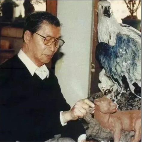 """曾良   中国工艺美术大师,石湾陶塑""""南国鹰王"""""""